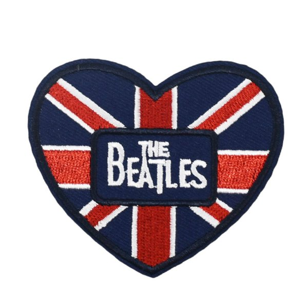 United Kingdom UK Heart National Flag Jack Patches Embroidered Iron On Applique diy badge singer musician music wappen