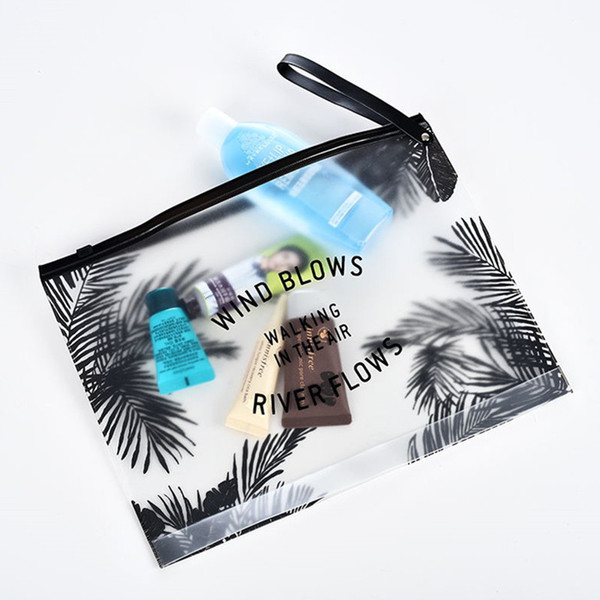 Hot PVC Transparent Makeup Bag Women Travel Cosmetic BagToiletry Brush Bags Organizer Necessary Case Bath Wash Box Three Models