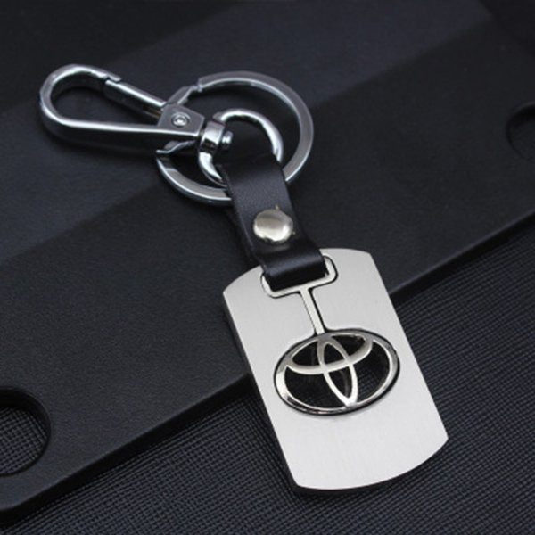 Men's  NISSAN Keychain Hollow silver plated Genuine Leather Car keychain Key Ring metal key chain Pendant