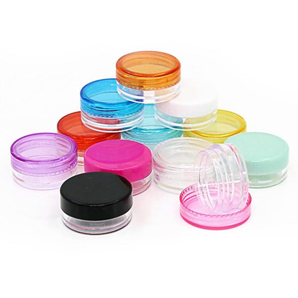 10 unids 5 g Colorido Mini Botella Recargable Frasco Cosmético Bote de Sombra de Ojos Maquillaje de Cara Caja de Crema de Cara Contenedor Redondo de Almacenamiento