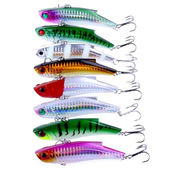 wholesale 8pcs Quality Fishing Lures 9cm/28g VIB bait Artificial Make 8 Colors Available Bass Crankbait Wobblers Fishing Tackle Pesca