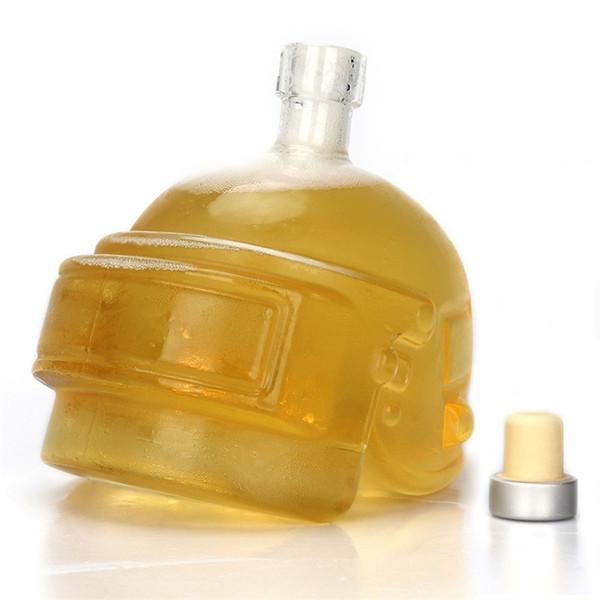Высокая боросиликатного стекла бутылки минимализм бутыль шлем форма прозрачный горшок вина нетоксичные творческие личности хип колбы 25 КБ jj