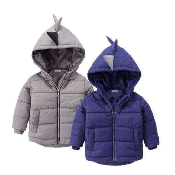 Envío gratis 2018 2 colores Chaqueta de abrigo de invierno para niños prendas de vestir exteriores estilo de invierno bebé Goys y niñas ropa de abrigo caliente para 2-6 años