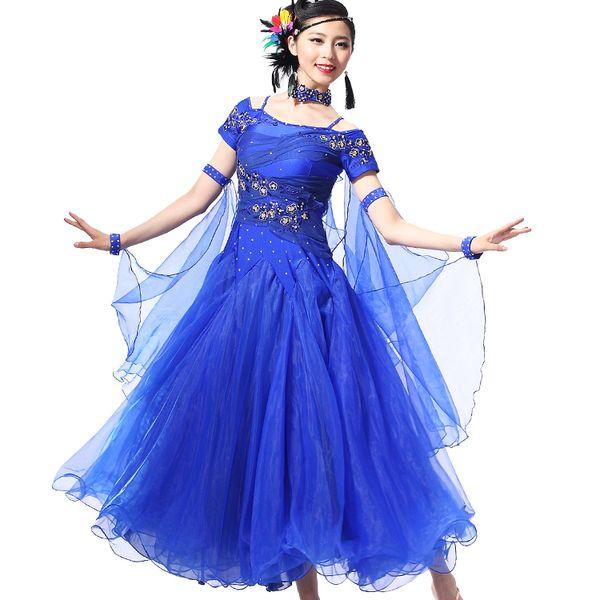 2016 Donne Ballroom Dance Competition Abiti Ladys Modern Tango Waltz Costumes New Style Standard Ballroom Dress