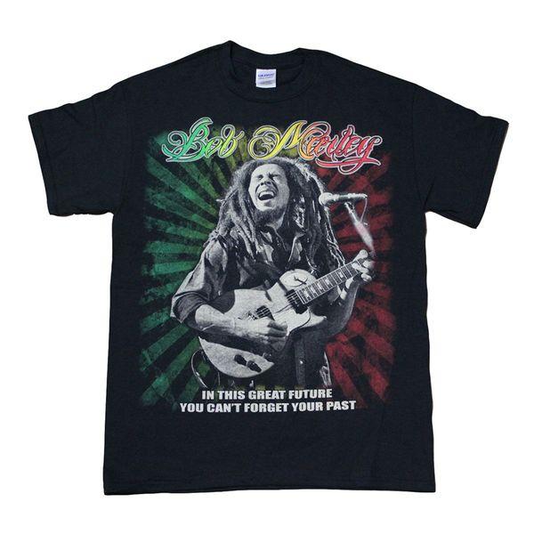 Bob Marly Männer T-Shirt Bunte Grafik T-Shirt Oansatz Mode Lässig Hochwertige Druck T-shirt Männer Kleidung Plus