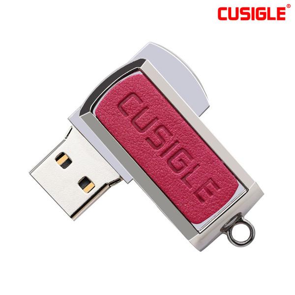For CUSIGLE CS68 Red USB Flash Drive 16GB32GB64GB128GB 256GB 2.0 Diamond Hole Design With Key Chain Shockproof