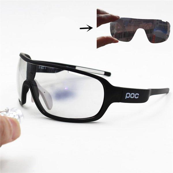 Koşu gözlükleri 3 Lens hızlı Fotokromik Bisiklet Güneş Gözlüğü Gözlük Erkekler Spor Yol Mtb Bisiklet Renklenme Gözlük Gözlük