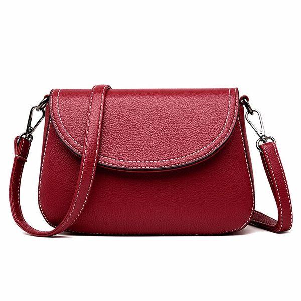 2018 new style flip, retro women's single shoulder bag, atmosphere simple OL commuter women's bag