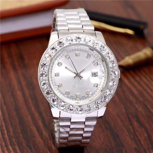 Relogio gold luxury men automatic iced out watch men upplier watch daydate pre ident wri twatch red bu ine reloj big diamond watche, Slivery;brown