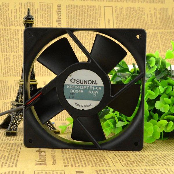 For original authentic SUNON Jianzhan KDE2412PTB1-6A DC24V 6.0W 12 cm fan