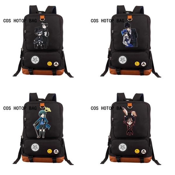 Anime Black Butler Backpack student School Bags Cartoon Teenager Backpacks Kuroshitsuji Bag Ciel Sebastian Student Bag 13 style
