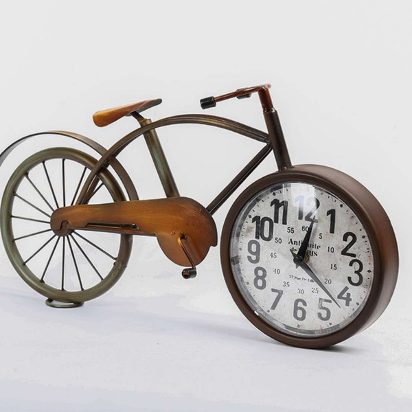 European retro simple home clock creative personality metal bicycle clock