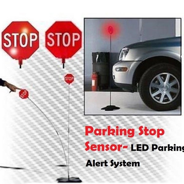 Grosshandel Garage Parkplatz Sensor Led Stoppschild Garage Parkplatz Licht Assistent System Blinkende Led Licht Stop Zeichen Drop Verschiffen Von