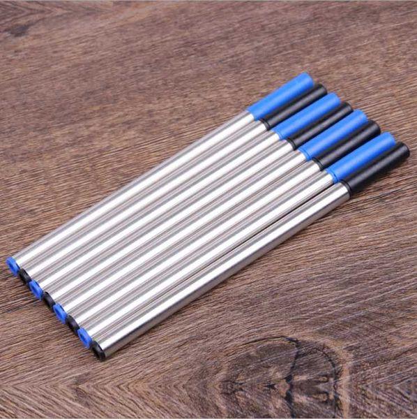 Ellen Brook 12 Pieces 0.5mm Korean Metal General Gel Pen Writing Smooth Refill Officel School Supplies Stationery Gift