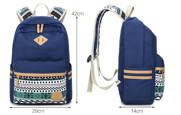 Schoolbag Oxford fabric fabric Backpack The leisure fashion backpack Outdoor travel bags High-capacity Knapsack School Bags Canvas A02