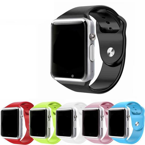 A1 Bluetooth Smart Watch soporte Ranura para tarjetas SIM Relojes de salud para Android Samsung e IOS iPhone Smartphone Pulsera Smartwatch
