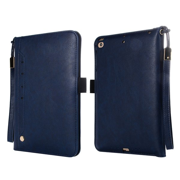For iPad Mini 4 PU Leather Case Flip Cover with Card Slot and Holder for Apple iPad Mini 4 Case+Stylus
