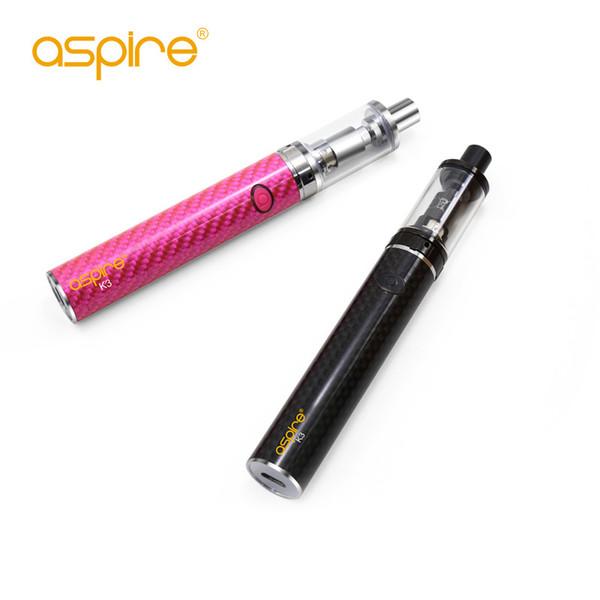 100% Original Aspire K3 Kit de Arranque Rápido Com 2 ml K3 Tanque 1200 mah Bateria K3 1.8ohm Aspire Nautilus BVC bobinas