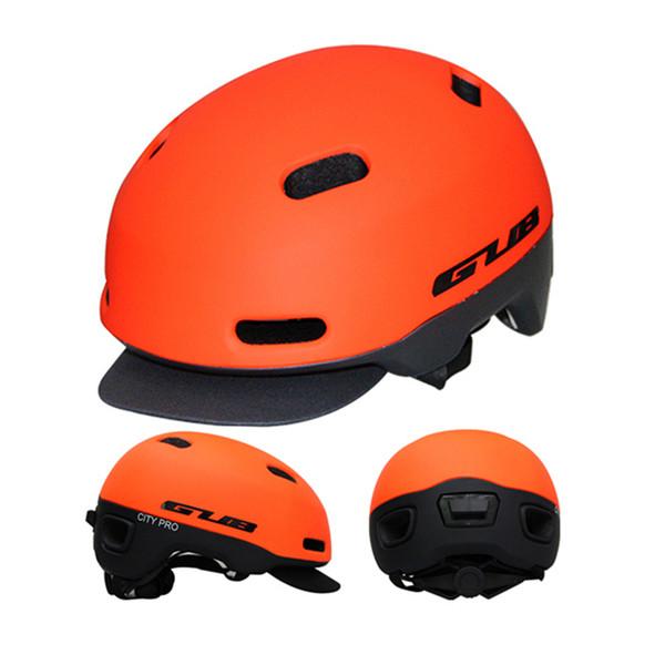High Quality GUB Ultralight Cycling City Bike Urban Folding Bicycle Helmet BMX Skating Fixed Safe Cap Integrally-molded Helmets