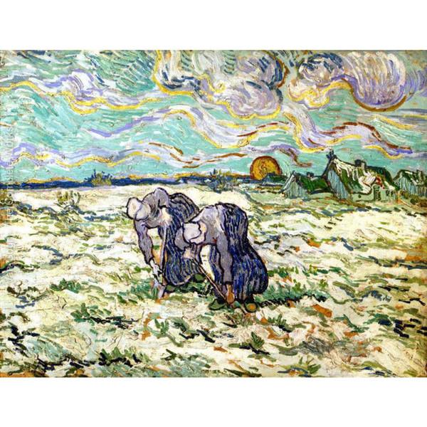 Acquista Dipinti A Mano Quadri Moderni Dipinti Da Vincent Van Gogh The  Weeders Dopo Millet Tela Arredamento Camera Da Letto A $101.51 Dal Kixhome    ...