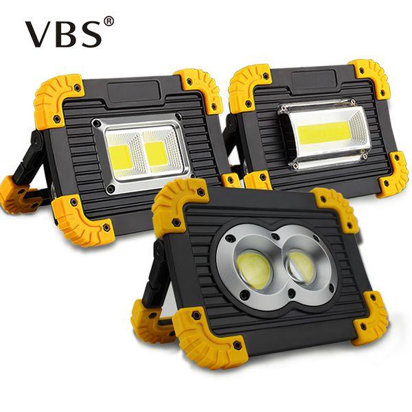 Taşınabilir Led Spot Açık Bahçe Lambası DC5V Dış Aydınlatma Led Taşkın Işık 20 W USB Şarj Edilebilir COB Çalışma Işığı IP44