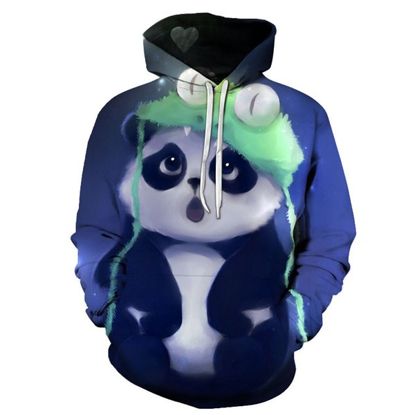 2018 New Fashion Wolf Hoodies Men/women 3d Sweatshirts Print panda small flower Hoody Hooded Hoodies Tracksuits Tops
