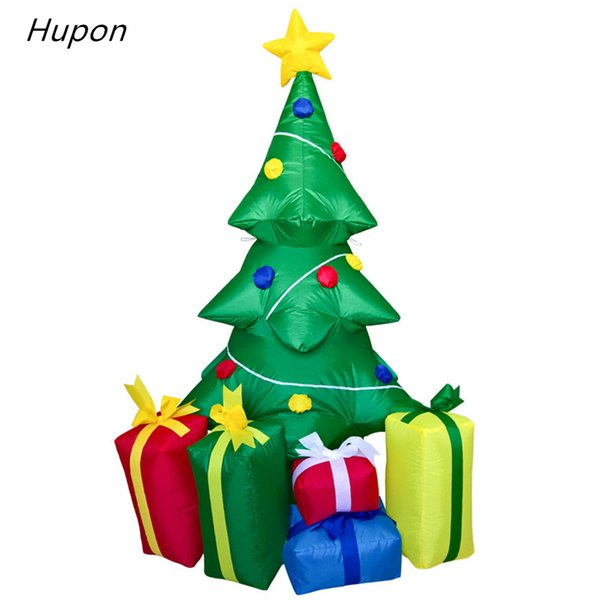 Inflatable Christmas Tree.240cm Air Inflatable Santa Claus Christmas Tree With 5 Gift Boxes Outdoors Christmas Decorations For Home Merry 2018 Christmas Decoration Themes