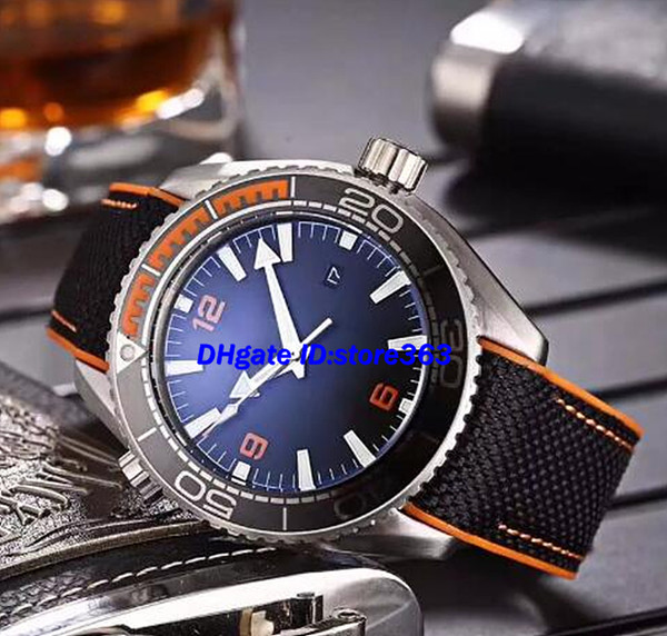 Luxury watch Luxury Watch 45mm Planet Ocean Co-Axial 600M 215.32.44.21.01.001 CAL.8500 Movement Automatic Mens Watches