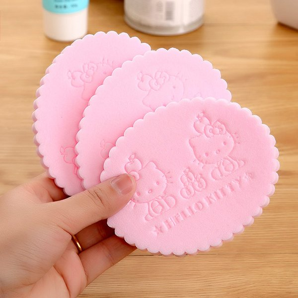 cute cat magic face cleaning wash puff seaweed cosmetic puff cleansing facial flutter wash face sponge makeup tools