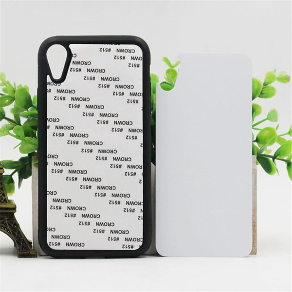 10pcs/lot 2D Sublimation Blank TPU Soft Case Cover For iPhone XR Xr Aluminium Plates and Glue