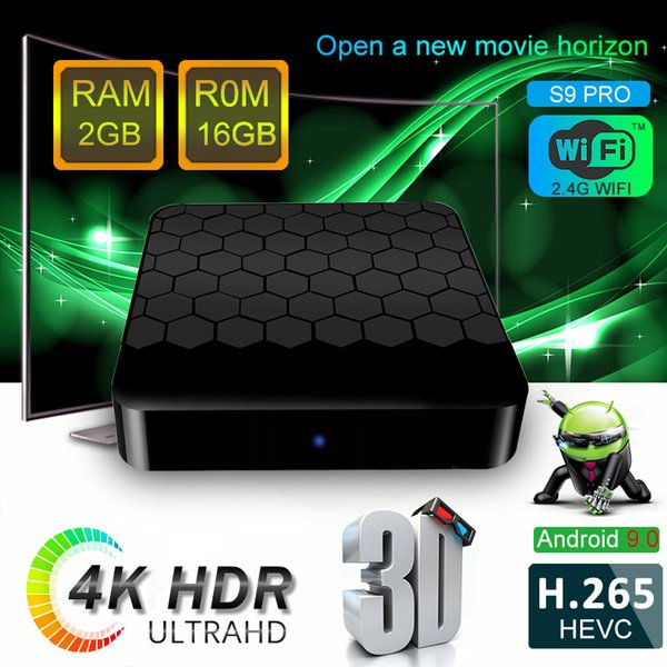 best selling 2019 Hottest S9 PRO 2GB 16GB Android 9.0 TV Box 18.0 IPTV Media Player P MXQ PRO X96 MINI