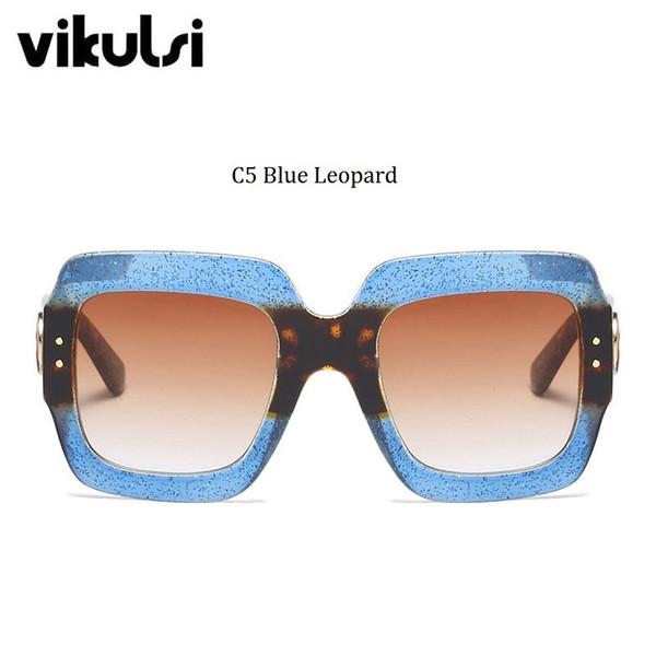 C5 léopard bleu