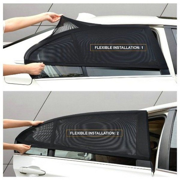 2 x Car Rear Side Window Sun Visor Shade Mesh Cover Shield Sunshade UV Protector Free Shipping