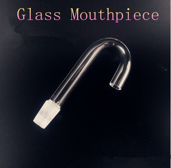 Glass Mouthpiece Removable Clear Mouthpiece Clear Glass Bong Hex Stemless Bubbler Geyser Perc Water Pipe Smoking Accessory