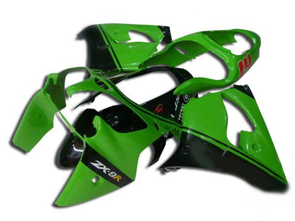 K267 ABS Plastic green Fairing kit for KAWASAKI Ninja ZX9R 00 01 ZX-9R ZX 9R 2000 2001 Motorcycle Fairings set+7 gifts