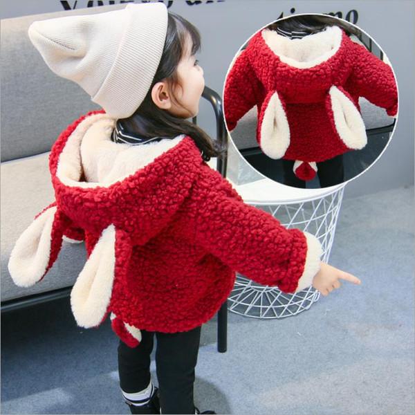 Baby Winter Warm Jackets Snow Coat For Girls Kids Fur Snowsuit Girl Overcoat Cotton-Padded Infant Velvet Thick Hoodies 1 2 years