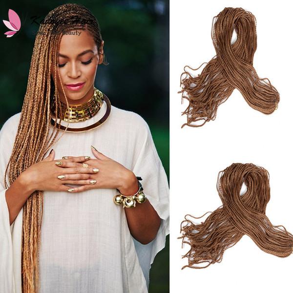 Großhandel Fashion30inch Pack 60inch Lange Zizi Häkeln Zöpfe Haare Synthetische Flechten Haare Micro Box Zöpfe Häkeln Haar Marley Für Schwarze