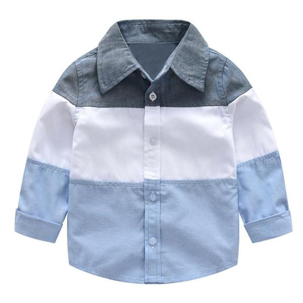 Arloneet boys clothes Gentleman long sleeve shirt Toddler Baby Boys Splice Long Sleeve Gentleman Tops Blouse Clothes l0718