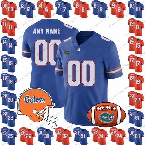 Custom Florida Gators 2018 NEW BRAND JUMP College Football Jerseys Any Name Number Orange Blue NCAA #15 Tim Tebow 22 Emmitt Smith S-3XL