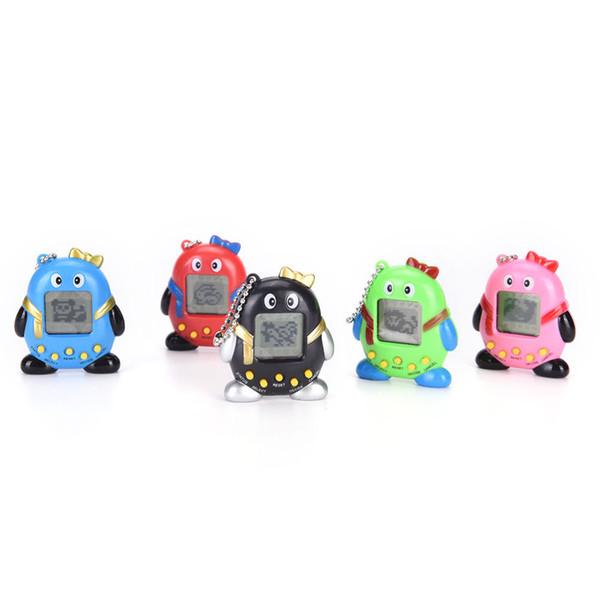 MINI Plastic Electronic Game Machine Virtual Pet Cyber Pet Digital Tamagotchi Penguins Gift Toy Handheld Game Gift
