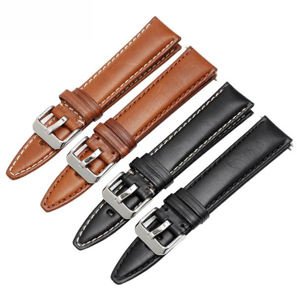 Новый натуральная кожа ремешок для часов 18 мм 20 мм 22 мм 24 мм Италия кожаный ремешок высокое качество общий стиль браслет