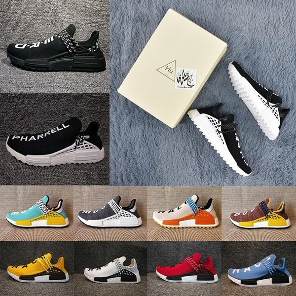 f41efc7ce 2018 Pharrell Williams Hu TR Shoes Human Race Running Shoes Runner men and  women Trainers Sneakers Boots Size 36-47 for sale