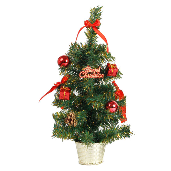 New Hot 45CM Height Table Top Christmas Tree Xmas Party Office Hanging Decoration Ornaments 3 Colors Party Decoration Supplies