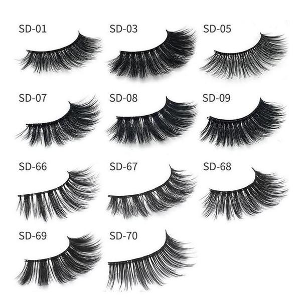 2018 MINK eyelashes 11 styles Selling 1pair lot Real Siberian 3D Full Strip False Eyelash Long Individual Mink Lashes Extension