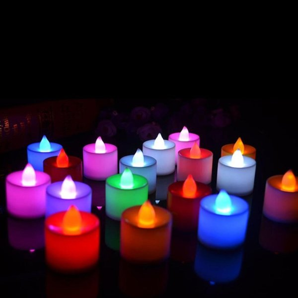 Lámparas de velas de té LED de navidad multicolor simulación de color de la llama luces intermitentes en casa boda fiesta de cumpleaños Deco vacaciones luces