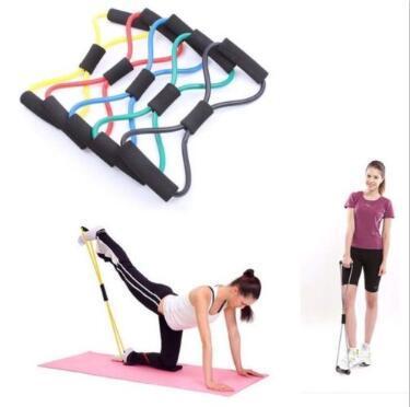 Figure Légère 8 Ultra Cordons D'exercice De Bande De Résistance De Toner pour Yoga Workout Body Building Home Gym avec Heavy Duty CCA9391 50pcs
