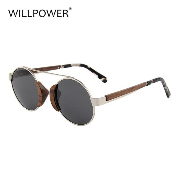 Gafas de sol redondas de madera Gafas de sol vintage de madera Hombres Mujeres Lujo personalizado