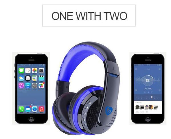 Casque Bluetooth MX666 Stéréo Audio Sur Oreille Sans Fil Casques Hifi Basse DJ Rock Noise Annulation Écouteur avec Micro FM TF Carte Vente Chaude