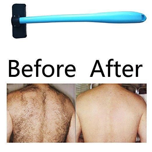 Hombre Manual Espalda Afeitadora de Pelo Blade Trimmer Hágalo Usted mismo Todo el Cuerpo Pierna Espalda Cabello Razor Mango Largo Big Blade Hair Removal Razor