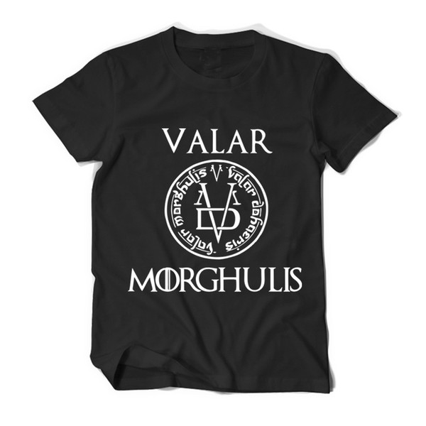 Game Of Thrones Valar Morghulis T Shirt Hommes Femmes T-shirt En Coton T-shirt Vêtements Eté Top Got Tee Plus Taille Camiseta Hombre